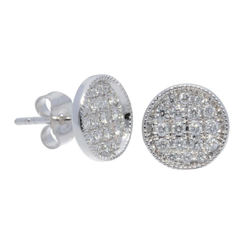 Deutsch Signature Pave Diamond Circle Stud Earrings