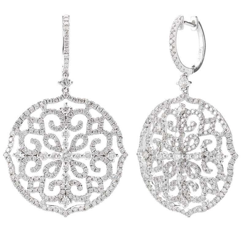 Deutsch Signature Diamond Huggie Earring with Medallion Drop