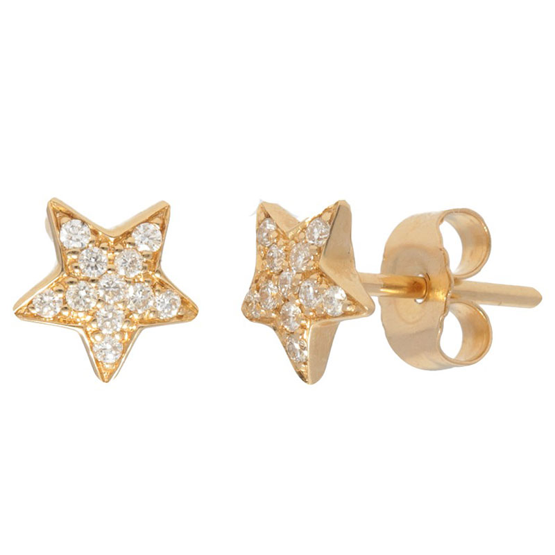 Deutsch Signature Diamond Star Stud Earrings