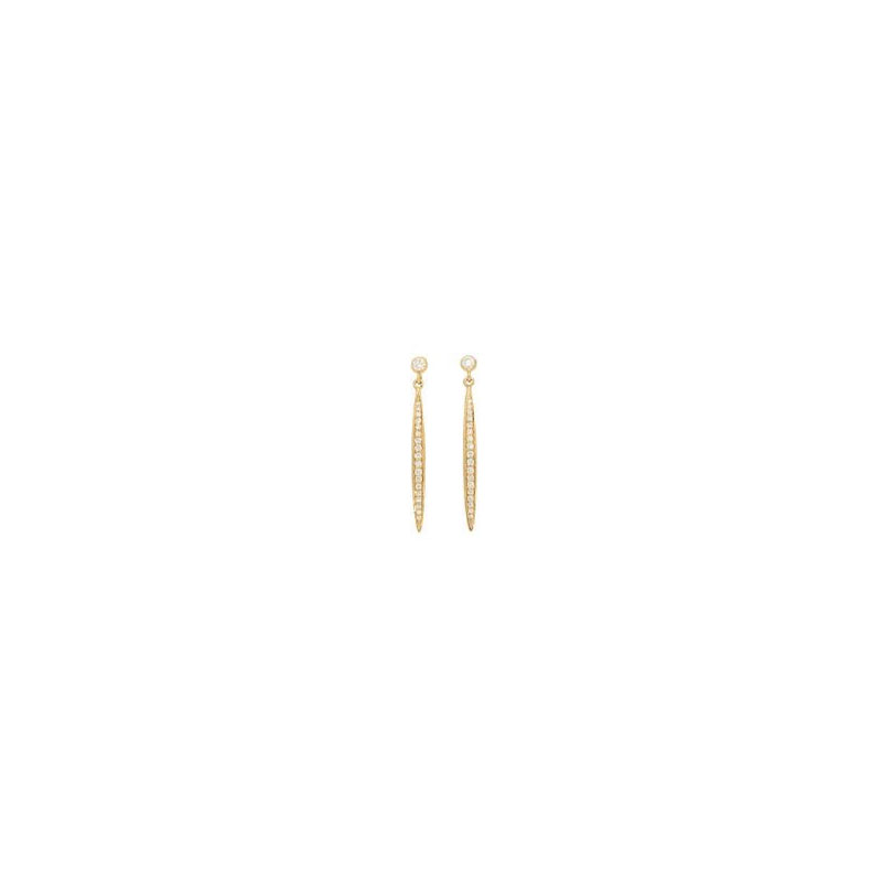 Deutsch Signature Pave Diamond Stiletto Drop Earrings