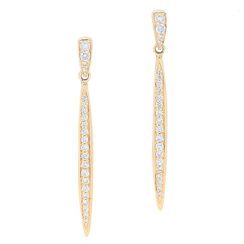 Deutsch Signature Pave Diamond Stiletto Drop Earrings
