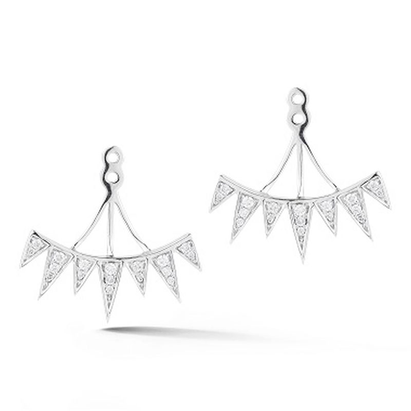 Deutsch Signature Diamond Triangluar Bar Earring Jacket