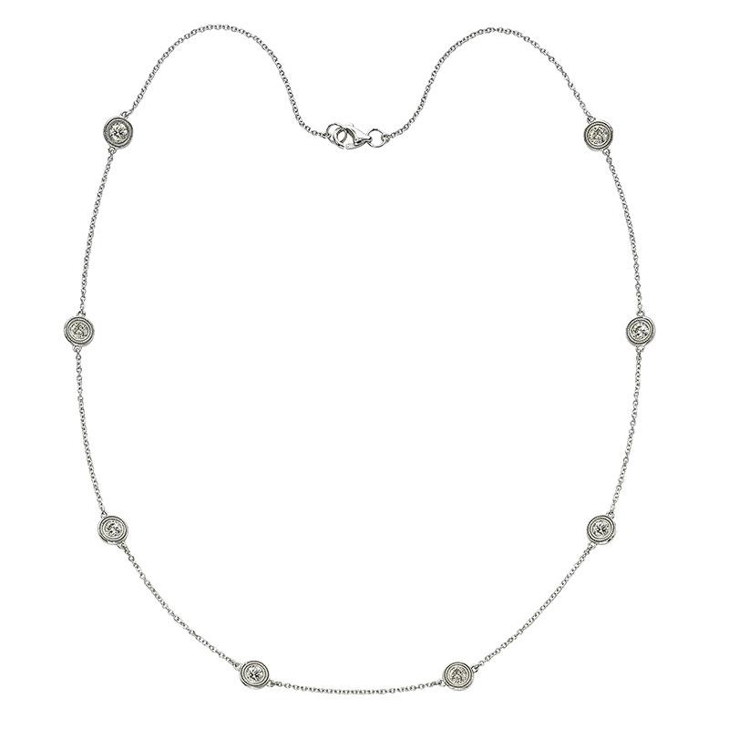 Deutsch Signature 8 Milgrain Bezel Diamonds by the Yard Necklace