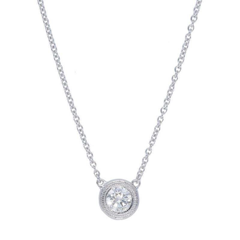 Deutsch Signature Single Milgrain Bezel Diamonds by the Yard Necklace