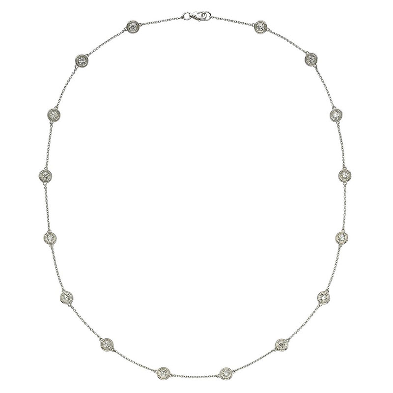 Deutsch Signature 16 Milgrain Bezel Diamonds by the Yard Necklace