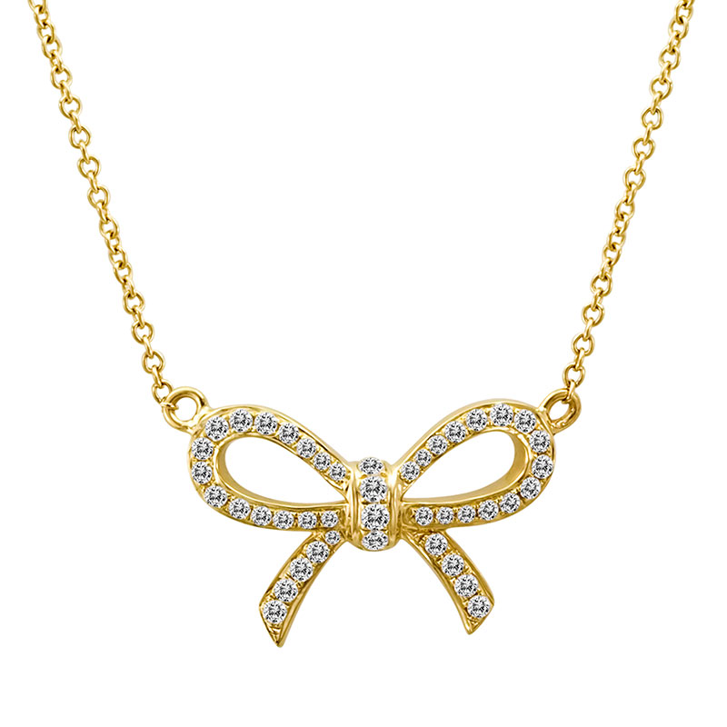 Deutsch Signature Diamond Bow Necklace