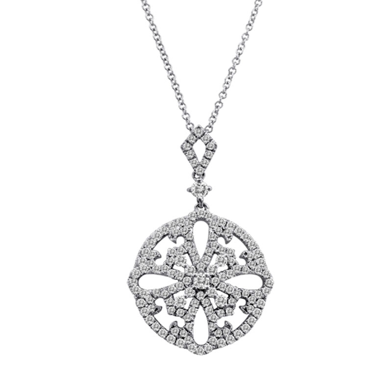 Deutsch Signature Diamond Medallion Pendant