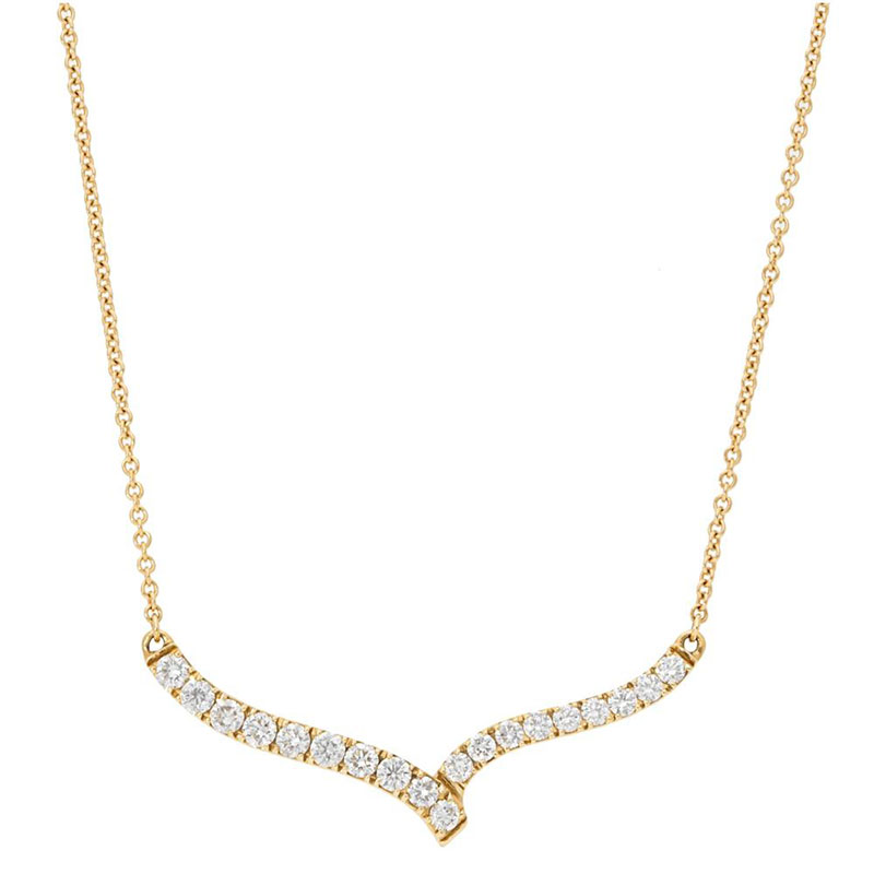 Deutsch Signature Curved Overlapping Diamond Necklace