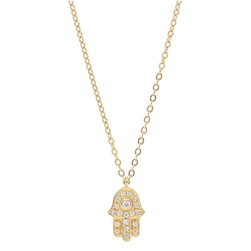 Deutsch Signature Diamond Hamsa Pendant