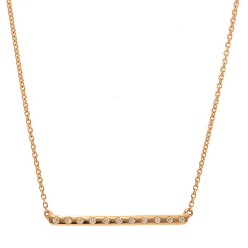 Deutsch Signature X-Small Diamond Bar Necklace