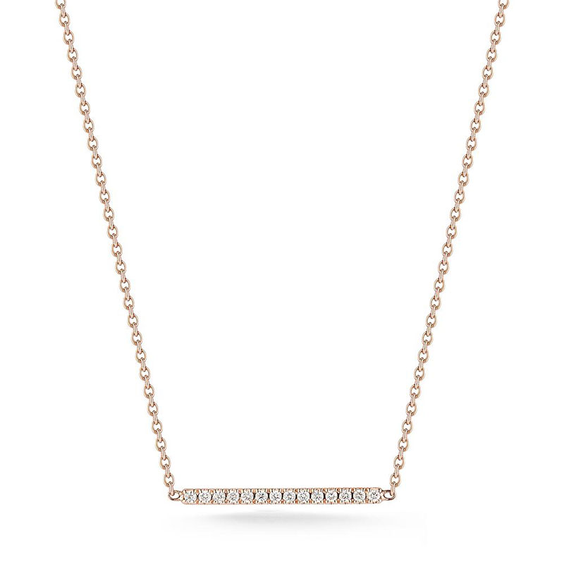 Deutsch Signature Xsmall Diamond Bar Necklace
