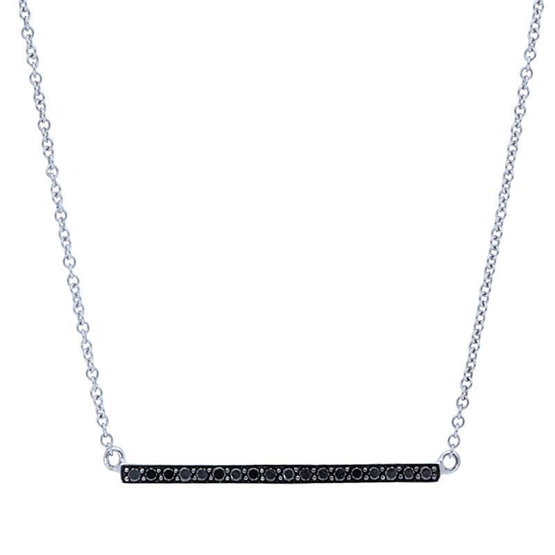 Deutsch Signature Black Diamond Bar Necklace