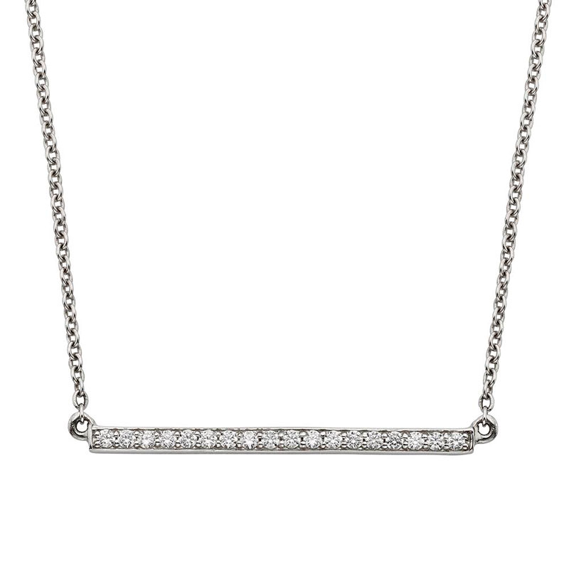 Deutsch Signature Diamond Bar Necklace