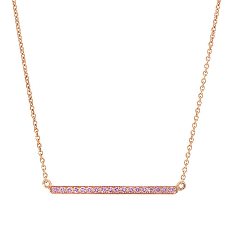 Deutsch Signature Pink Sapphire Bar Necklace