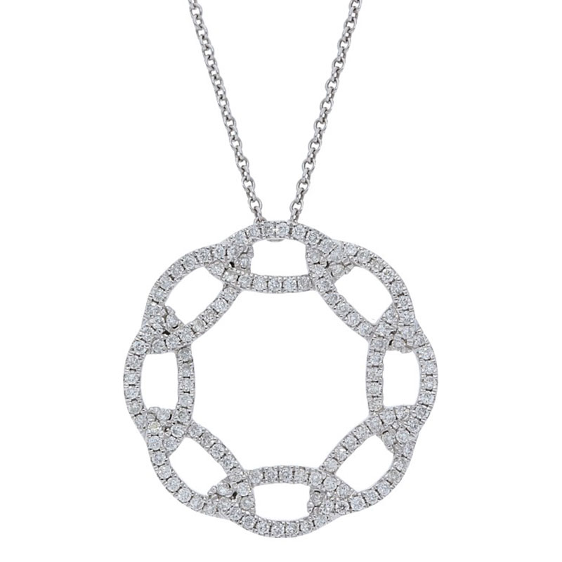 Deutsch Signature Interlocking Diamond Circle Pendant