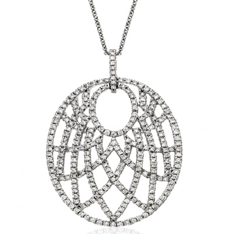 Deutsch Signature Diamond Oval Shape Pendant