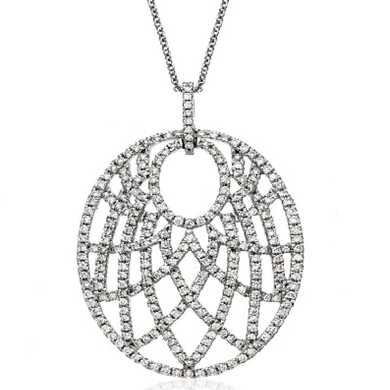 Deutsch Signature Diamond Oval Shape Pendant