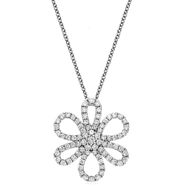 Deutsch Signature Open Pave Diamond Daisy Pendant