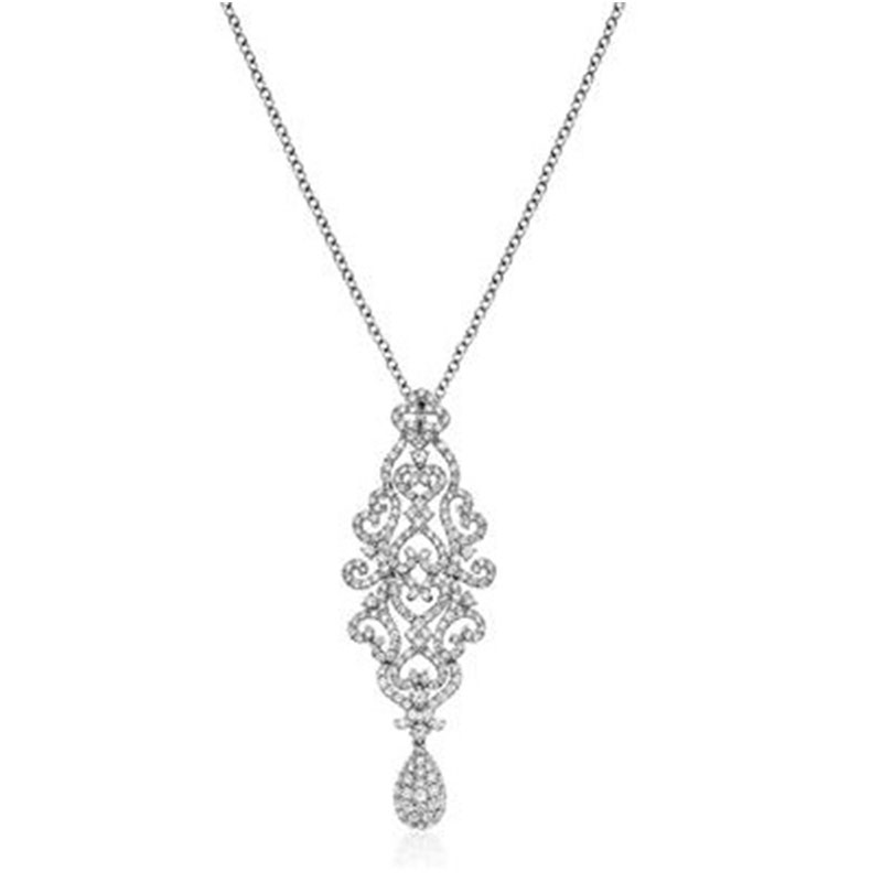 Deutsch Signature CHANDELIER PENDANT WITH PAVE PEAR DROP