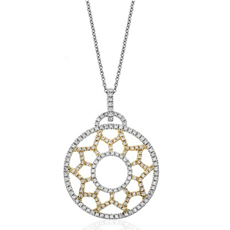 Deutsch Signature OPEN CIRCLE PAVE PENDANT