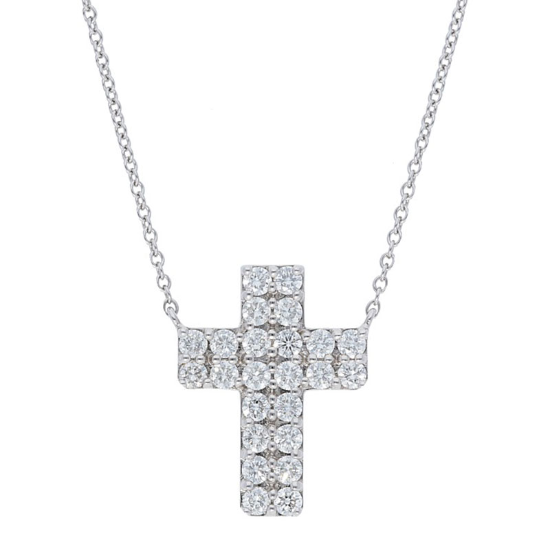 Deutsch Signature DOUBLE ROW DIAMOND CROSS PENDANT