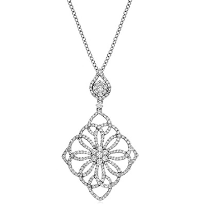 Deutsch Signature DIAMOND ANTIQUE OPEN SWIRL PENDANT
