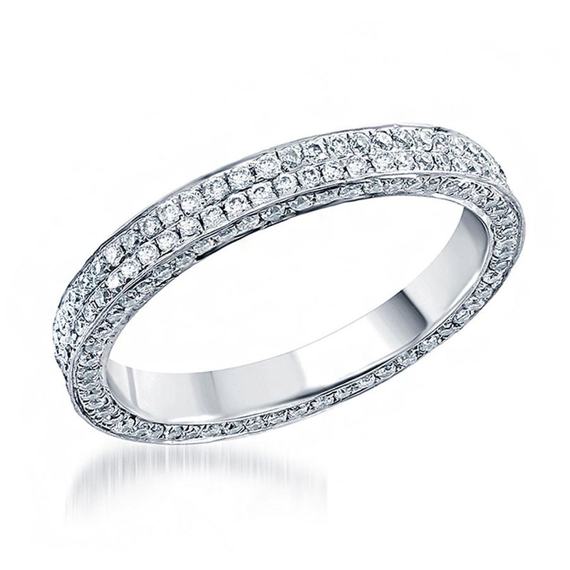 Deutsch Signature 3 Sided Micropave 2 Row Eternity Band