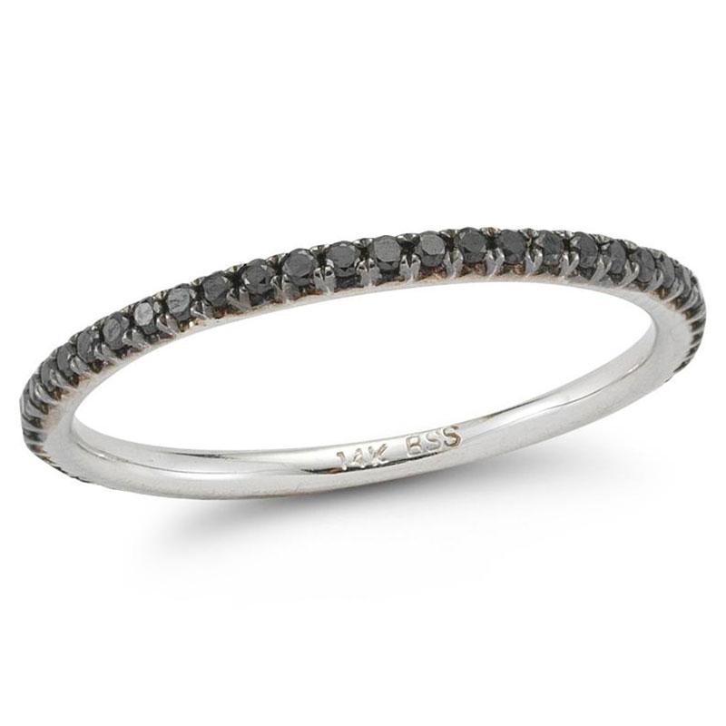 Deutsch Signature Black Diamond Eternity Stackable Ring