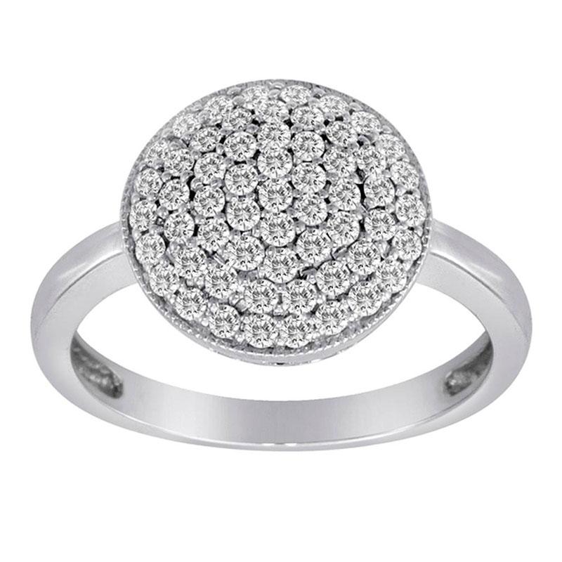 Deutsch Signature Pave Diamond Circle Ring