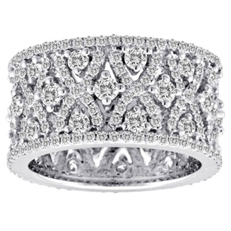Deutsch Signature Wide Criss Cross Diamond Band