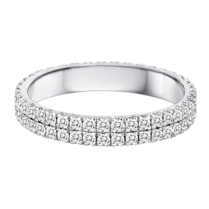 Deutsch Signature Diamond Bezel Cluster with Pave Diamonds All Around Hoops
