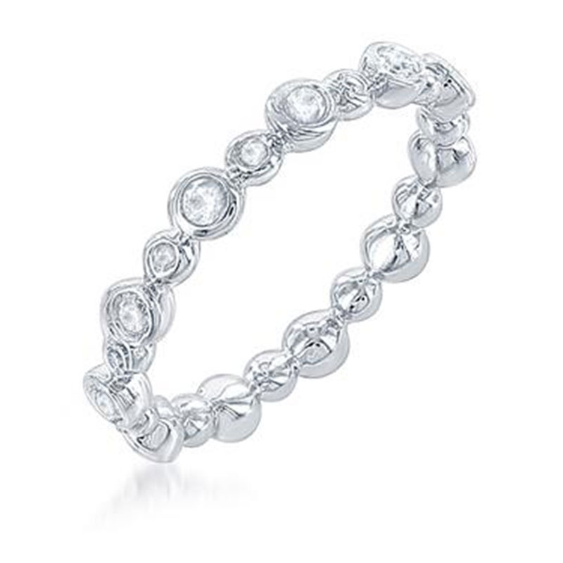Deutsch Signature Alternating Size Diamond Bezel Ring