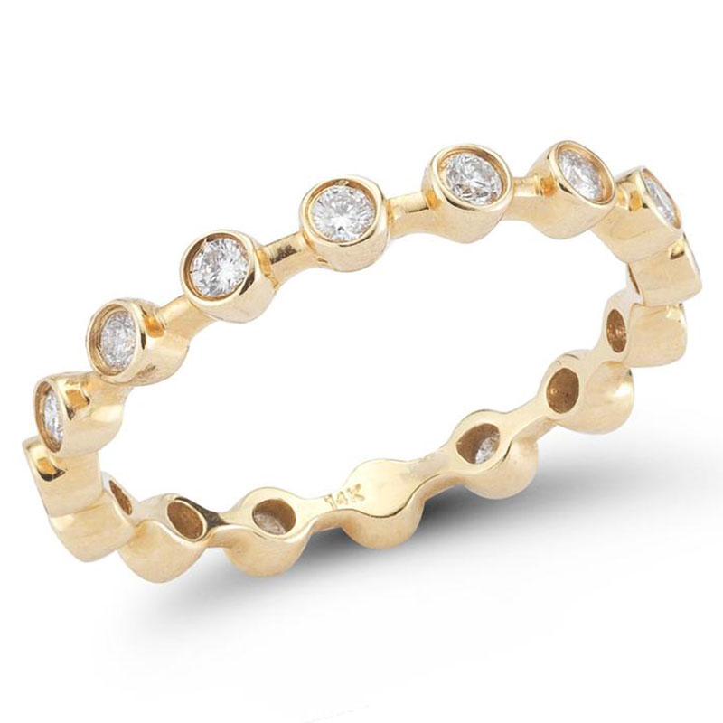 Deutsch Signature Diamond Bezel Bar Ring