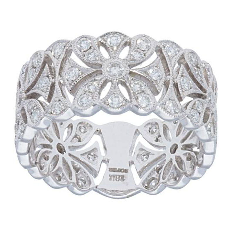 Deutsch Signature Diamond Flowery Band