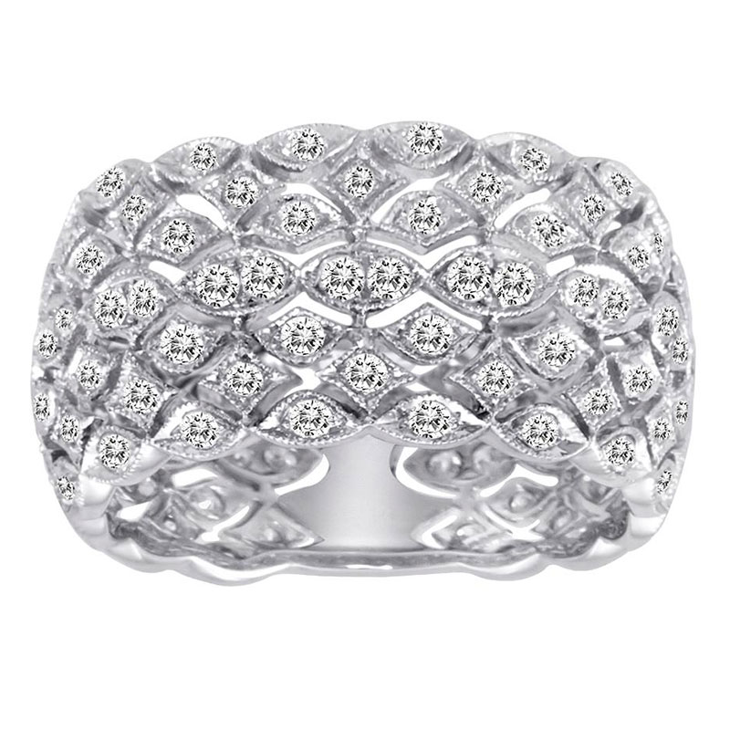 Deutsch Signature Multi-Row Diamond Band