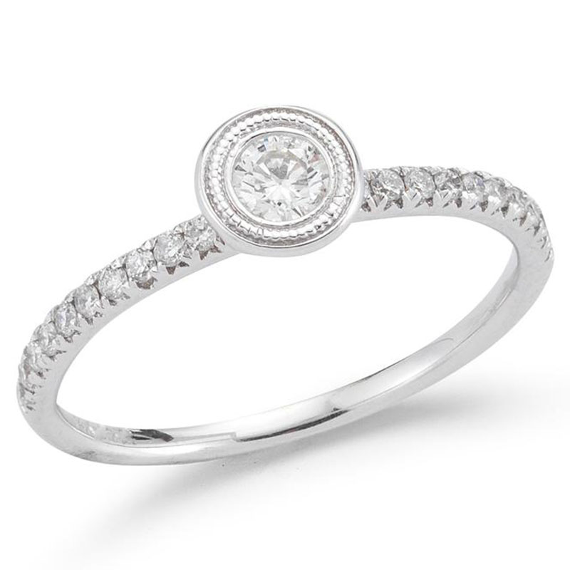Deutsch Signature Diamond Migrain Bezel with Pave Ring