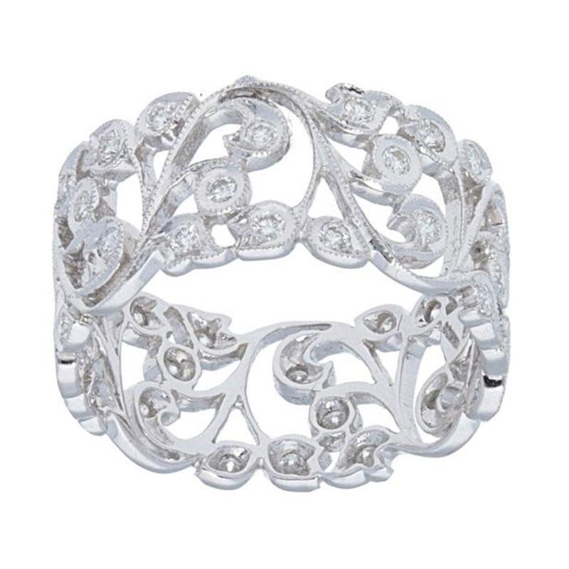 Deutsch Signature Wide Diamond Flower Branch Ring