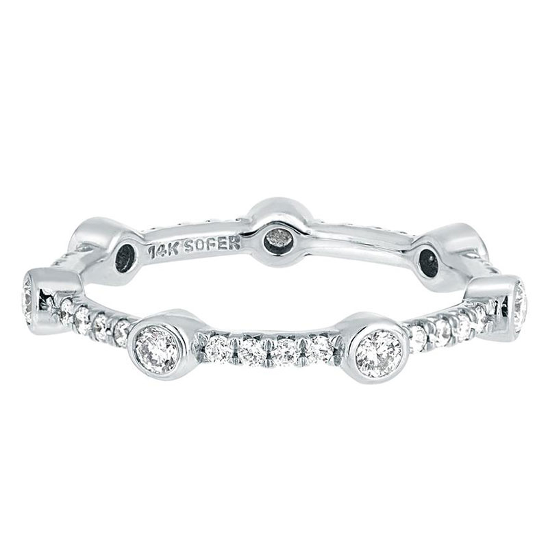 Deutsch Signature Diamond Bezel and Pave Stackable Ring