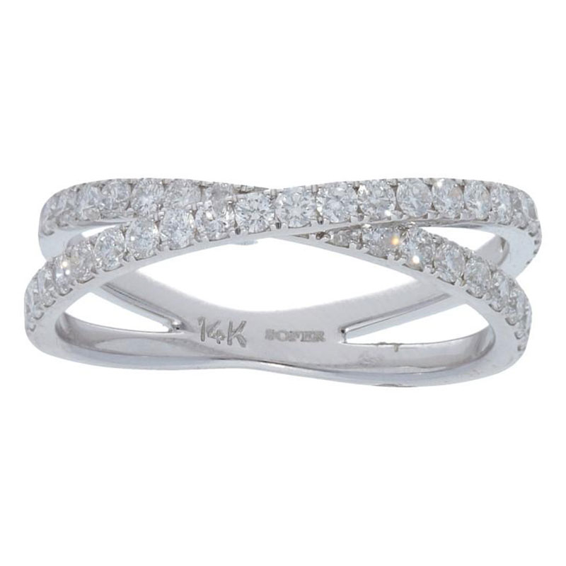 Deutsch Signature Diamond Criss Cross Ring