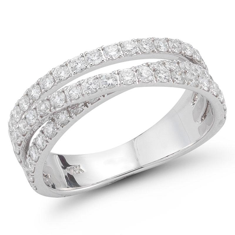 Deutsch Signature 3 Row Diamond Cross Over Ring