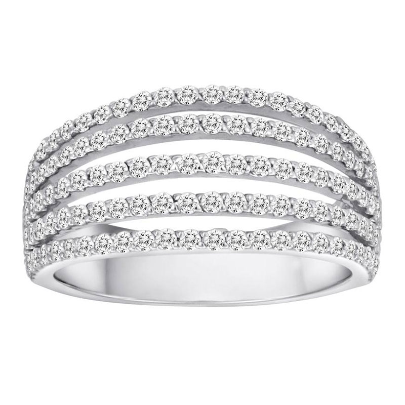 Deutsch Signature 5 Row Diamond Ring
