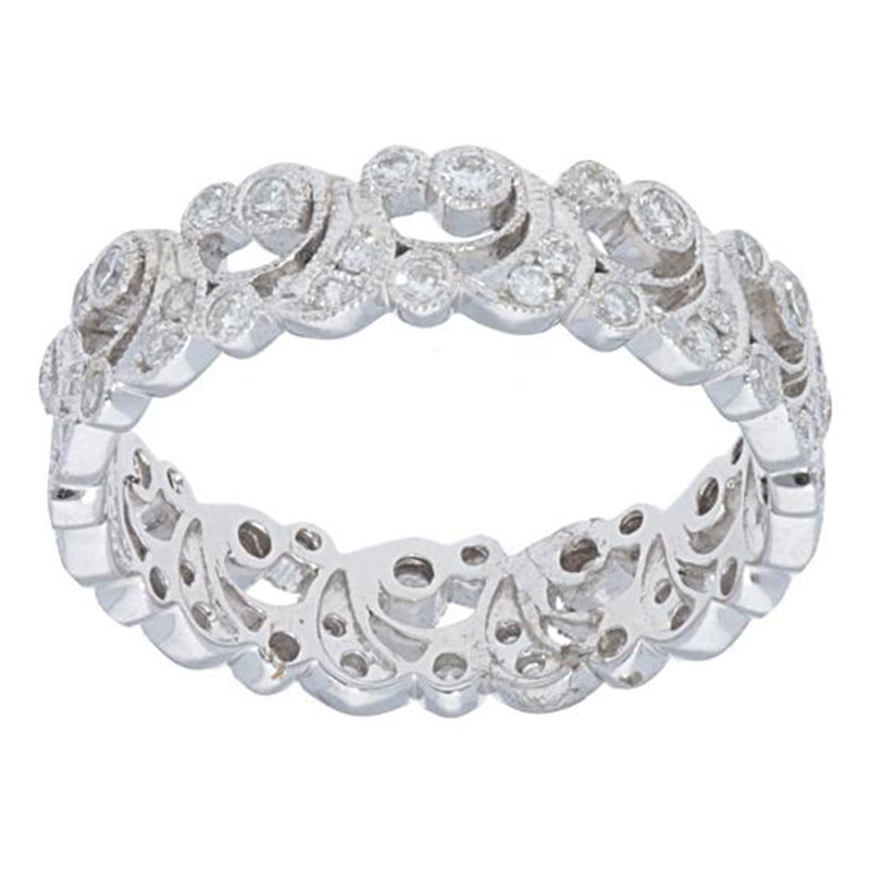Deutsch Signature Diamond Swirl Band