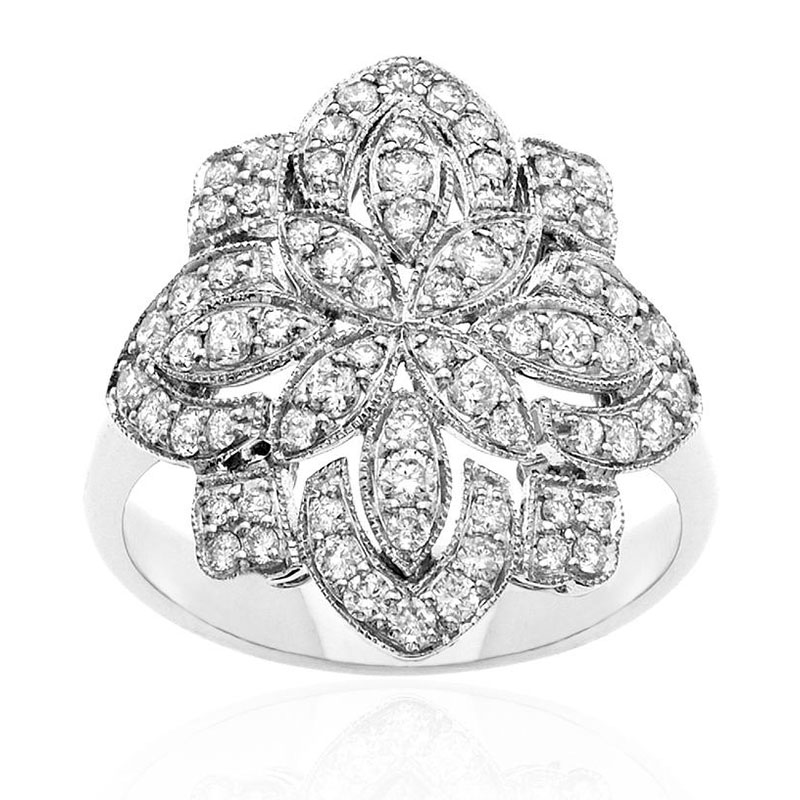 Deutsch Signature Diamond Antique Flower Ring
