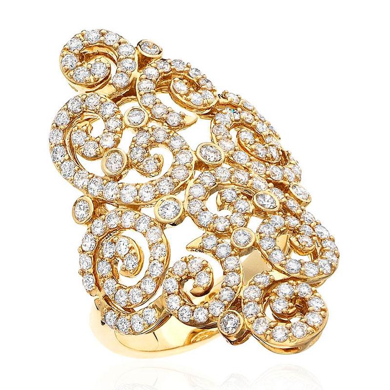 Deutsch Signature Diamond Antique Flower Ring