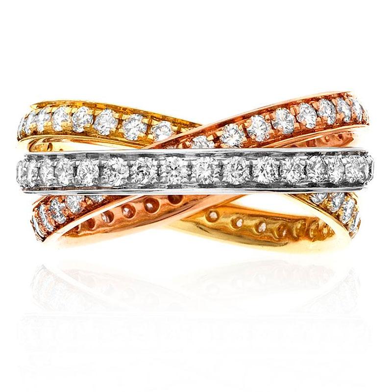 Deutsch Signature Diamond Trinity Ring