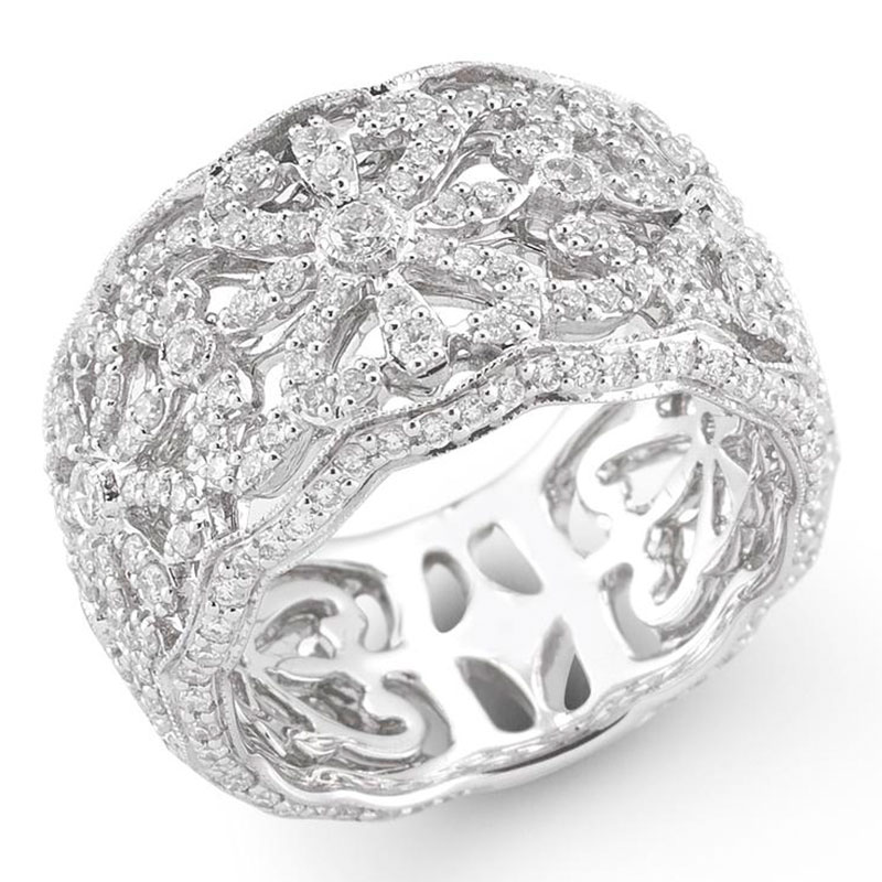 Deutsch Signature Wide Ornate Diamond Band