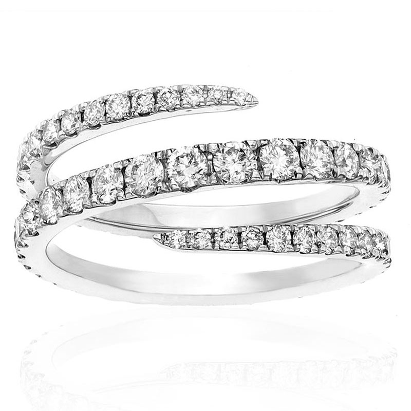Deutsch Signature Thin Wrap Around 1/2 Way Around Diamond Ring