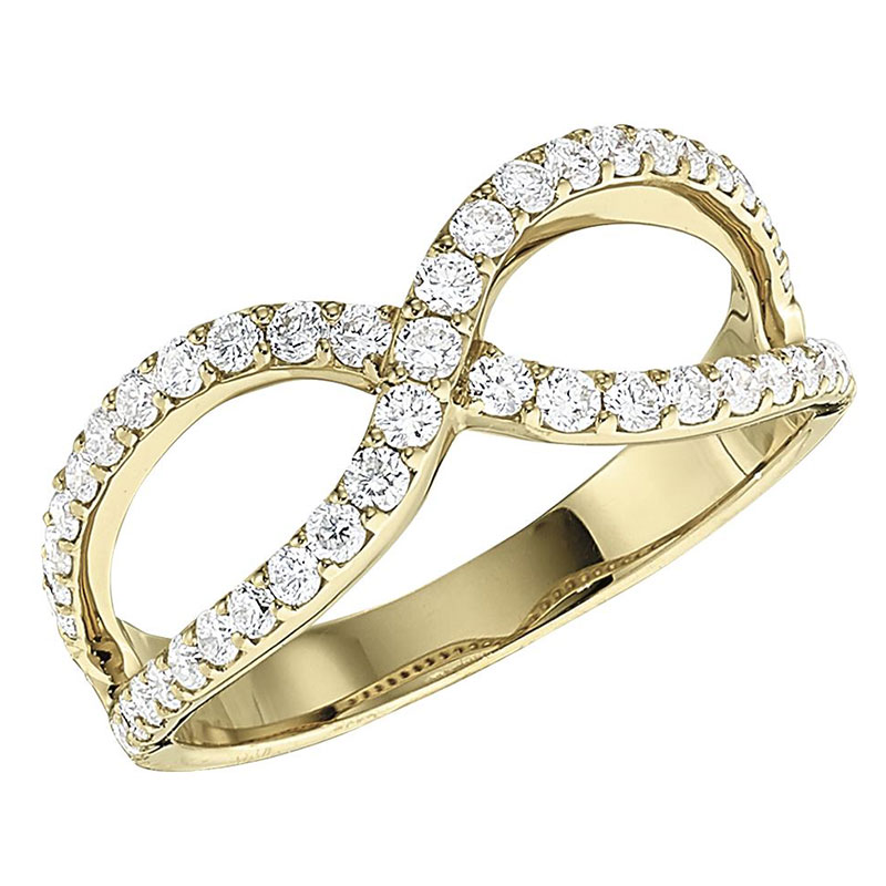 Deutsch Signature Criss-Cross Diamond Ring