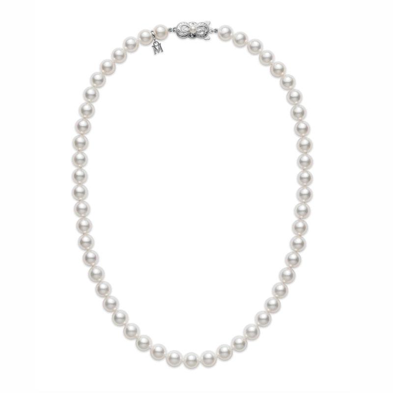 Mikimoto Choker Cultured Pearls 7x6.5mm A 16