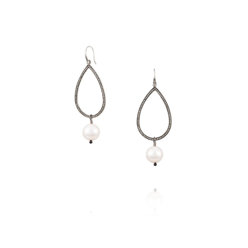 Vincent Peach Teardrop Earrings